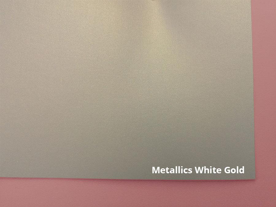 white gold mettalics