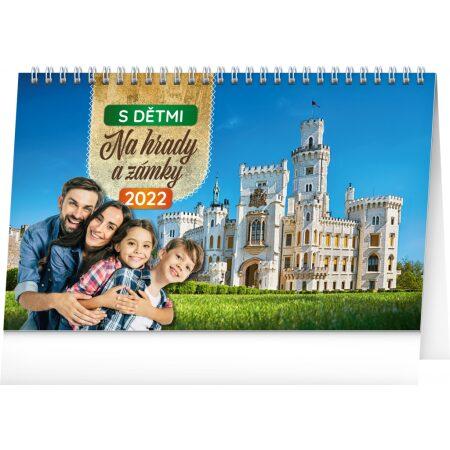 Stolový kalendár S deťmi na hrady a zámky 2022